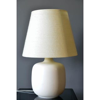 1960s Ivory Ceramic Table Lamp by Lotte and Gunnar Bostlund, Denmark Preview