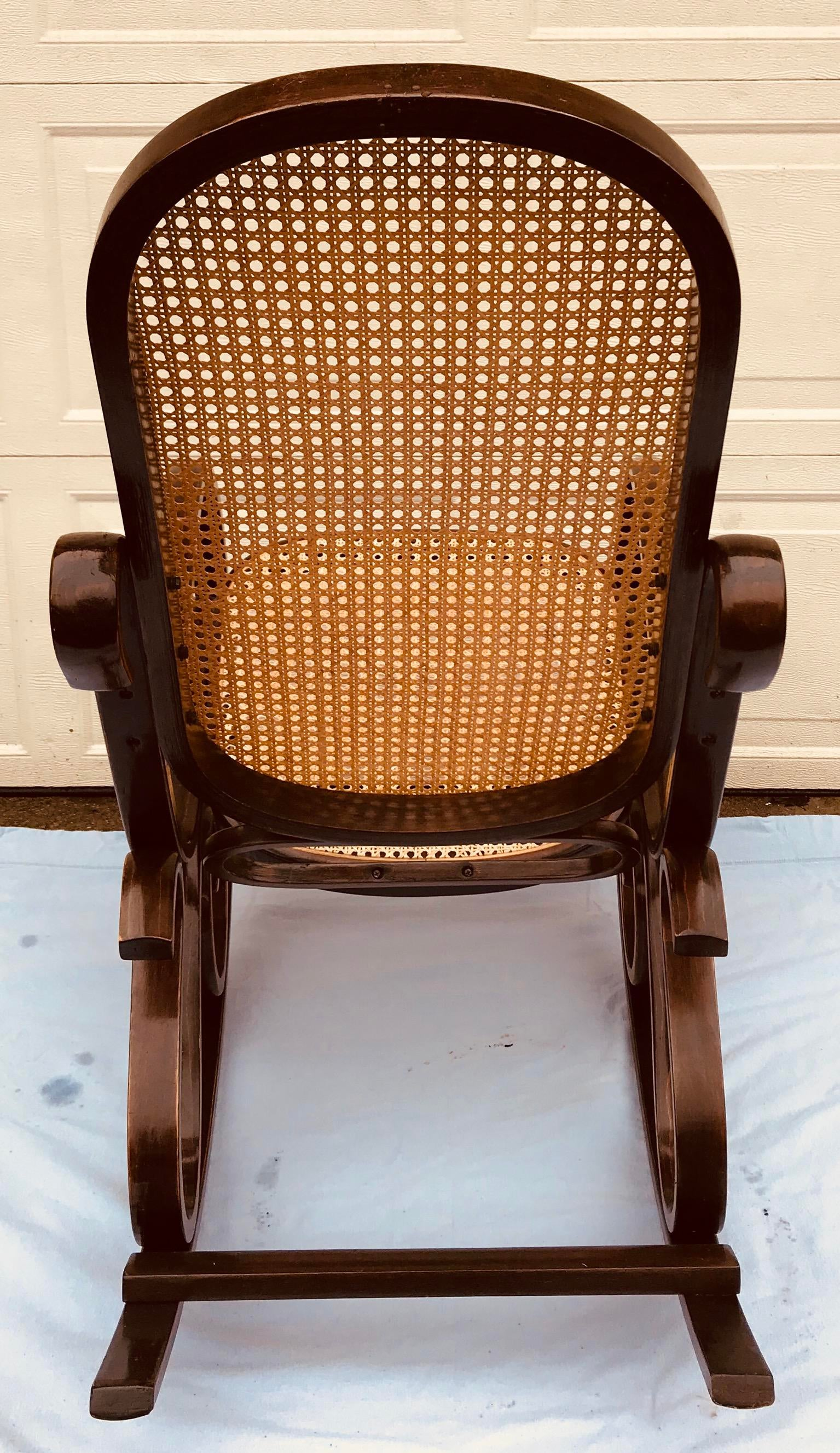 Bentwood Cane Rocking Chair   Image 3 Of 6