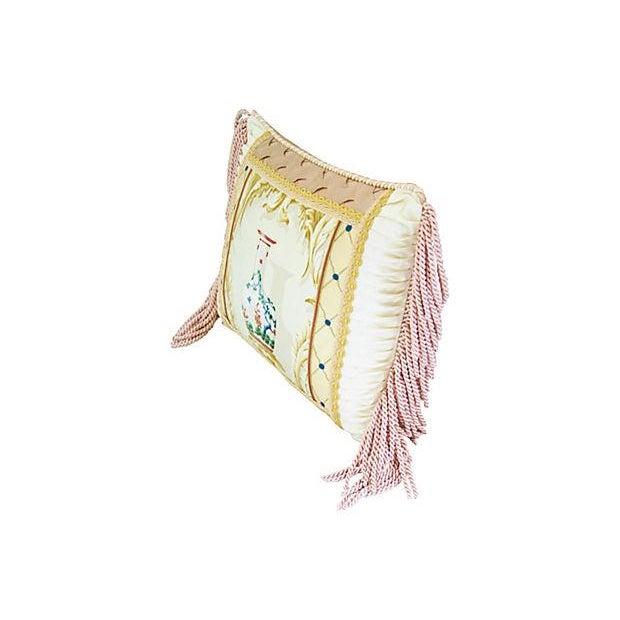 Designer Schumacher Chinese Vase & Silk Pillow - Image 6 of 6