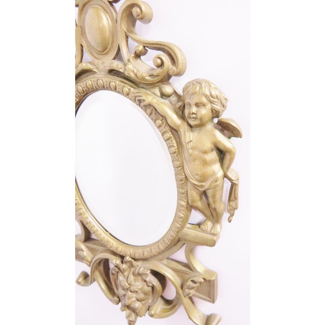 Victorian Victorian Figural Brass Mirror For Sale - Image 3 of 5