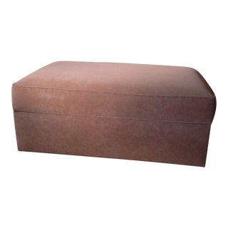 Ethan Allen Contemporary Storage Ottoman For Sale