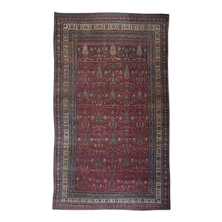 Magenta Ground Kerman Carpet For Sale
