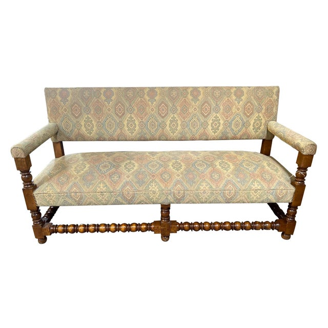 Antique French Upholstered Bench For Sale In Dallas - Image 6 of 6