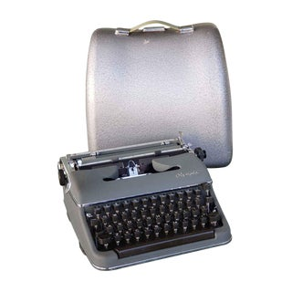 Vintage Olympia Sm3 Typewriter With Hard Case For Sale