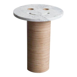 Contemporary Tgm Marble Smiley Side Table For Sale