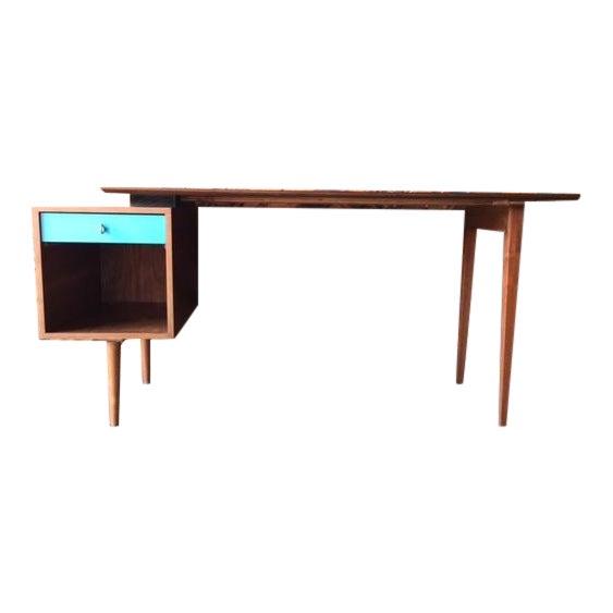 Mid-Century Style Walnut Desk - Image 1 of 8