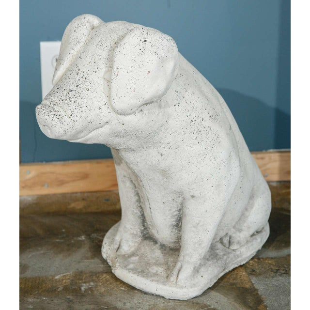Cast Stone Pig Garden Ornament - Image 2 of 8