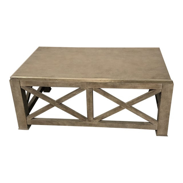 Rustic Lillian August for Hickory White Burleigh Slim Coffee Table For Sale