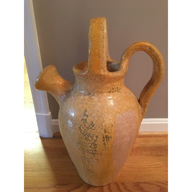 French Provincial 1980s Vintage Ceramic Watering Jug Decor For Sale - Image 3 of 9