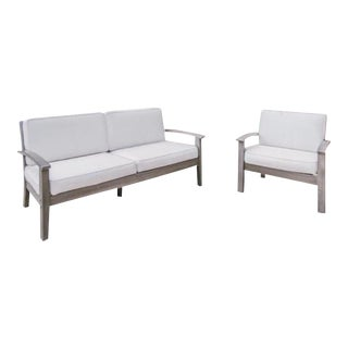 Pottery Barn Chatham Collection Loveseat & Side Chair Set
