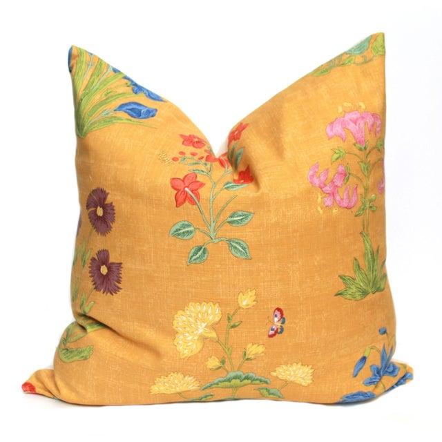 Yellow Botanical Pillow - Image 1 of 3