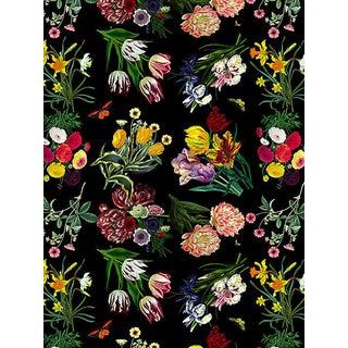 Scalamandre Nicolette Mayer for Scalamandre Flora & Fauna, Black Wallpaper For Sale