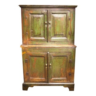 Early 19th Century English Pine Kitchen Cupboard For Sale