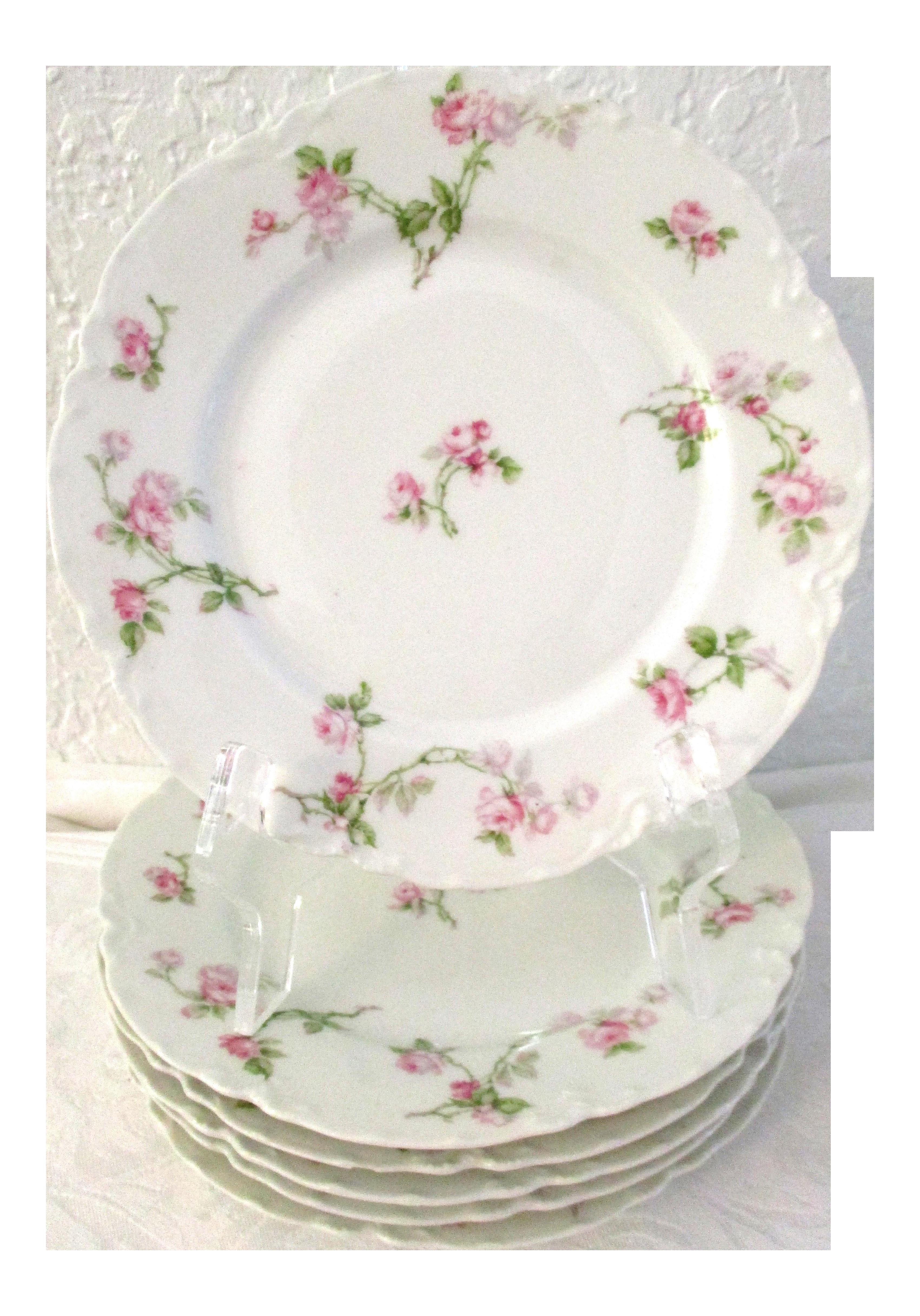Haviland Limoges Rose Luncheon Plates Set of 6  sc 1 st  Chairish & Haviland Limoges Rose Luncheon Plates Set of 6 | Chairish
