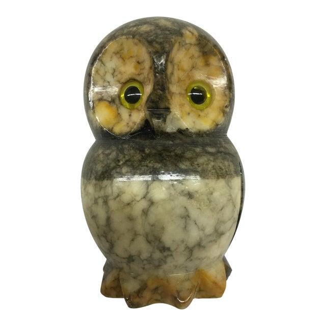 Hand Carved Alabaster Owl For Sale