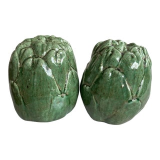 Artichoke Spring Easter Salt and Pepper Shakers For Sale
