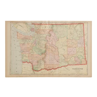 Cram's 1907 Map of Washington For Sale