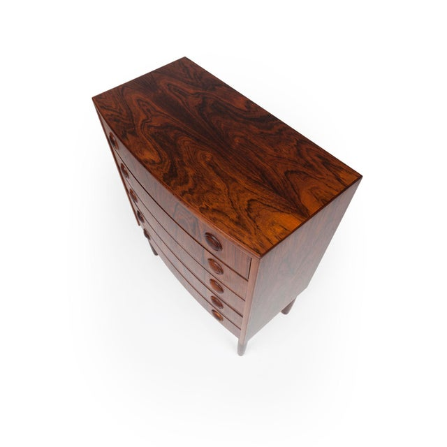 Wood Vintage Rosewood Chest of Drawers by Kai Kristiansen 1960s For Sale - Image 7 of 9