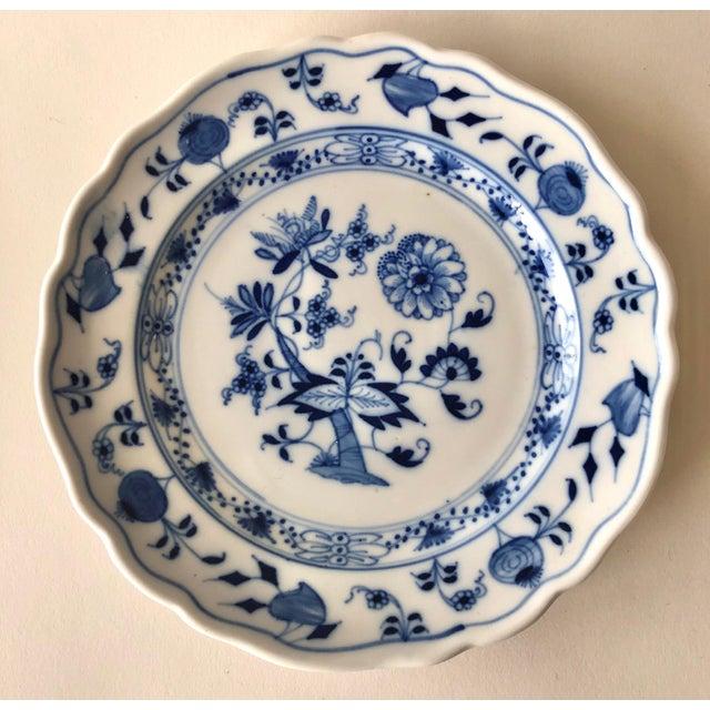 Blue Vintage Meissen Bread Plates by Carl Teichert - Set of 4 For Sale - Image 8 of 12