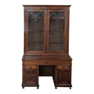 Secretary - Bookcase, 19th Century English in Mahogany For Sale