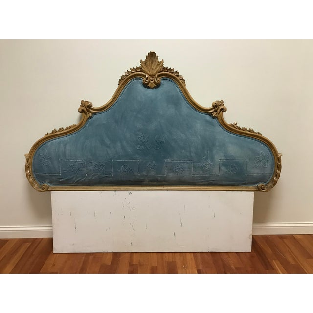 Hollywood Regency Rococo Carved Pine Queen Size Headboard For Sale - Image 11 of 11