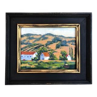 """""""Backroad Vines"""" Landscape Oil Painting For Sale"""