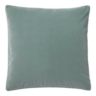 OKA Plain Velvet Cushion, Square in Gainsborough Blue