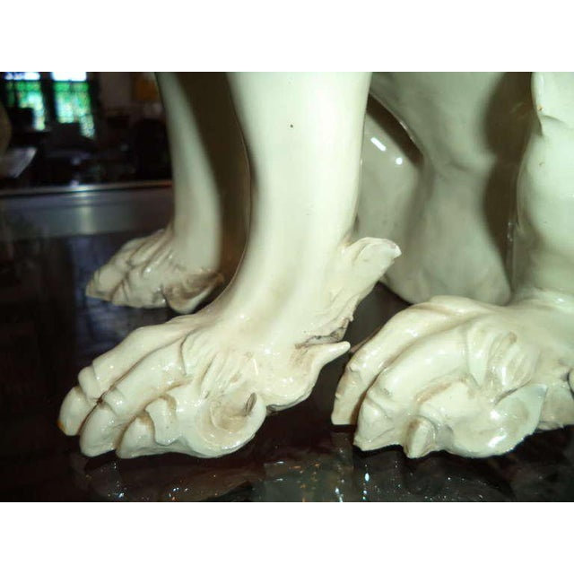 19th Century Porcelain Foo Dogs - a Pair For Sale In New York - Image 6 of 11