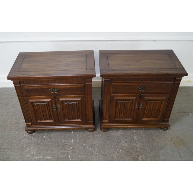 Ethan Allen Royal Charter Oak Nightstands Chests - A Pair - Image 5 of 10