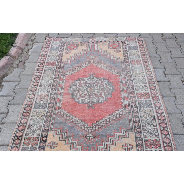 Distressed Turkish Oushak Rug - 3′11″ × 6′1″ - Image 8 of 9