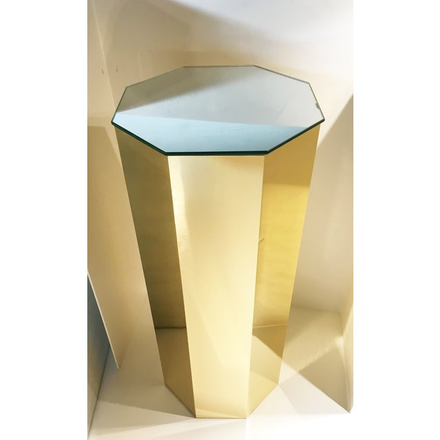 Brass Hexagonal Pedestal Column - Image 2 of 6