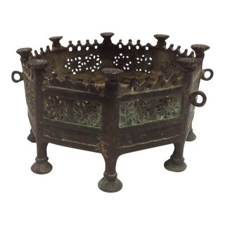 Antique Bronze Brazier From South East Asia For Sale
