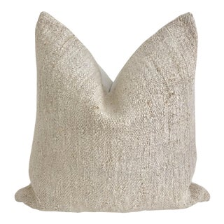 Natural Hemp Feather & Down Pillow 23 X 23 For Sale