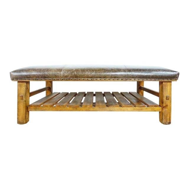 Astounding Pottery Barn Caden Leather Upholstered Ottoman Camellatalisay Diy Chair Ideas Camellatalisaycom