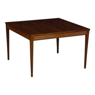 Square Danish Modern Mid-Century Rosewood Coffee Table For Sale