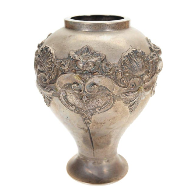 Topazio 19th Century Silver Repousse Vase - Image 1 of 8