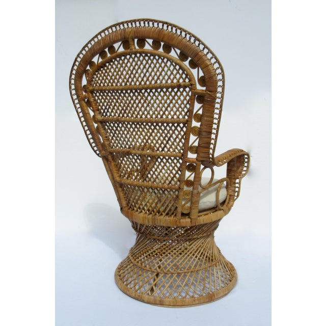Final Markdown: C1970s Vintage Bohemian Eclectic Boho Chic Rattan Raw Wicker Peacock Chair For Sale In West Palm - Image 6 of 13