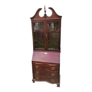 Vintage Jasper Cabinet Company Chippendale Style Secretary Desk For Sale
