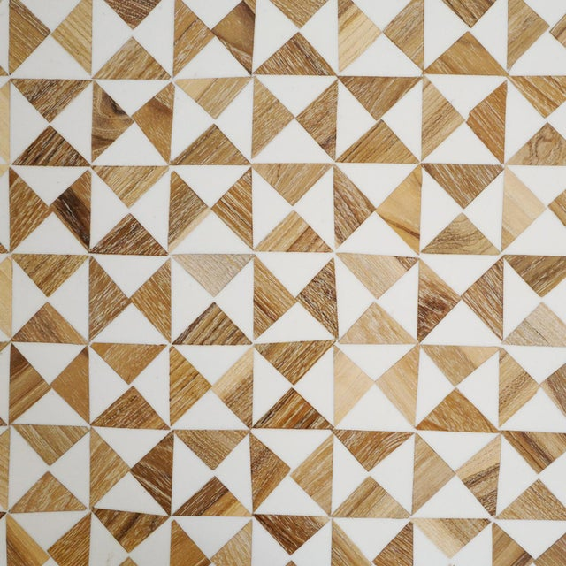 2010s Inlay Modern Geometric Console For Sale - Image 5 of 6