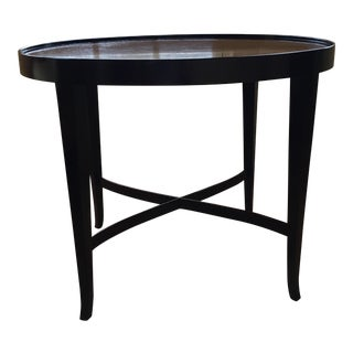 Transitional Barbara Barry Oval Side Table For Sale