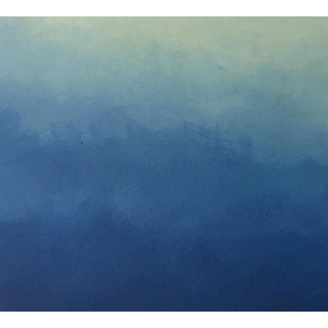 "Abstract blue Ombré - 42"" x 54"" - Image 3 of 6"