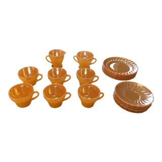 Anchor Hocking Fire King Peach Lustre Service for 6 - 20 Pieces