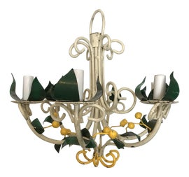 Image of Newly Made Green Chandeliers