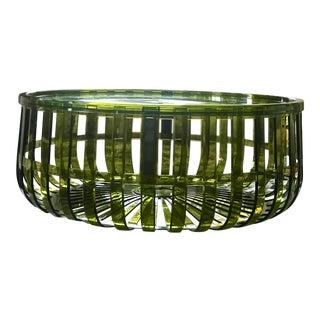 Olive Green Panier Basket Storage by Ronan & Erwan Bouroullec for Kartell For Sale