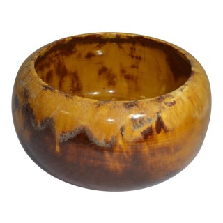 1960s Boho Chic Miali Drip Glaze Pottery Planter For Sale