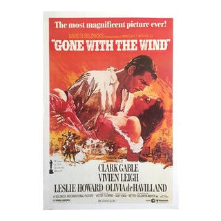 "Rare Vintage 1980 Collector's Iconic Movie Poster "" Gone With the Wind "" 1939 For Sale"