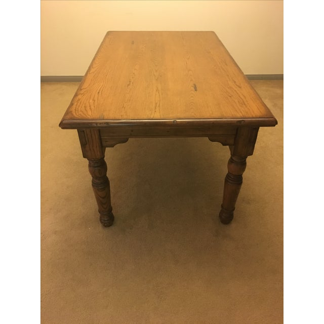 Pottery Barn Farmhouse Dining Table - Image 3 of 6