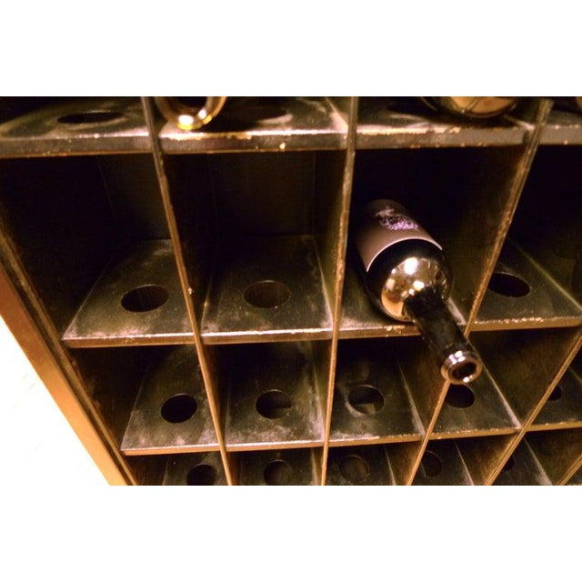 Storage Cabinet of Painted Steel as Wine Rack, Dvd, CD Storage, 72 Cubbies For Sale - Image 10 of 13