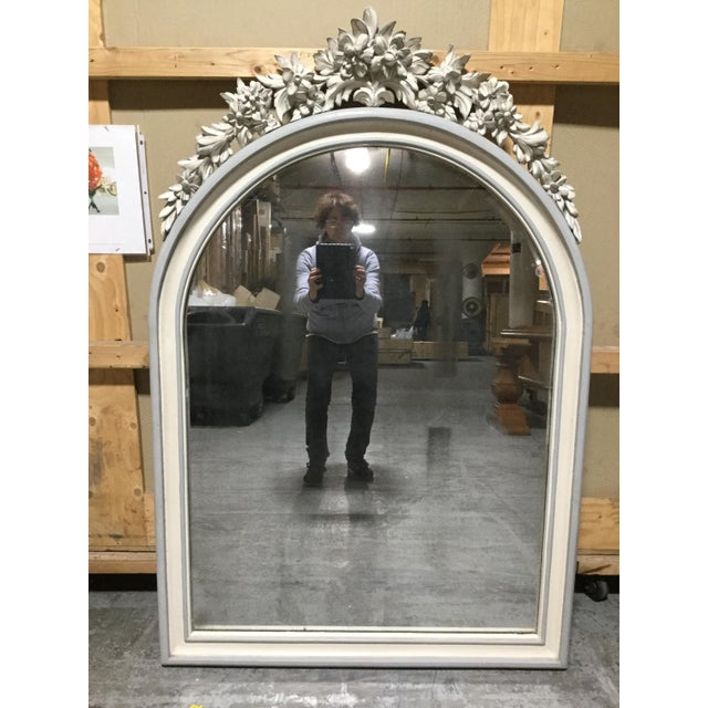 1900 - 1909 19th Century French Painted Mirror For Sale - Image 5 of 5