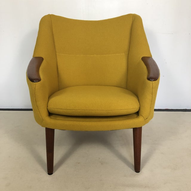Original 1960s vintage Lounge Chair by Kurt Ostervig for Rolschau Mobelfabrik. Made in Denmark. Newly reupholstered in...